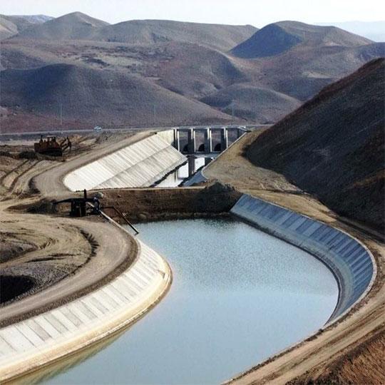 شبکه انتقال آب سد خدا آفرین